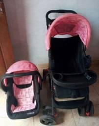 Carrinho + bebê conforto da Cosco