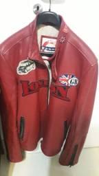 Jaqueta de couro Motoqueiro masculina XL