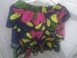 Vende se conjunto de mini saia com mini bluss