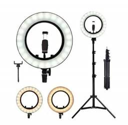 Ring Light Iluminador Led Celular 26 Cm Tripé 2m