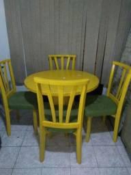 Mesa Madeira 4 cadeiras
