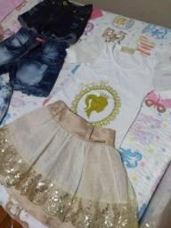 Lote de roupa de menina 6 a 8 anos