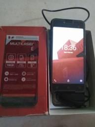Multilaser E Android semi nono com nota fiscal. 250 reais *