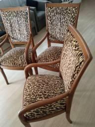¨Seis cadeiras para mesa de jantar super confortáveis