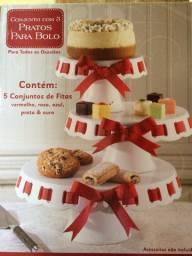 Conjunto de Porcelana para bolos