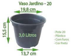 Vaso para mudas/ plantas pote 20 de 3 Litros cor preta