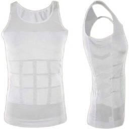 Camisa Modela abdominal Masculina perder barriga queimar calorias gordura emagrece