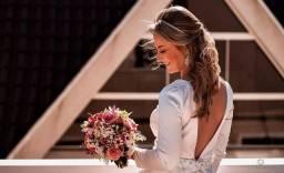 Vendo Vestido para Casamento cívil e Tiara de cabelo
