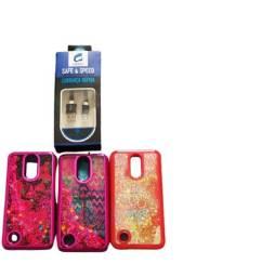 Kit 3 Capas Case Capinha LG K10 Semi Novas + Cabo De Dados