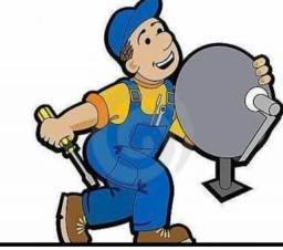 Instalação de antenas e manutenção