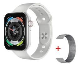 Smartwatch Iwo Fk-78 Branco + Pulseira Milanese Prata