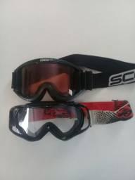 2 óculos motocross