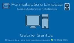 Serviços de formatação e limpeza - Computadores e Notebooks