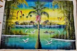 Tela óleo paisagem 175 x 120cm