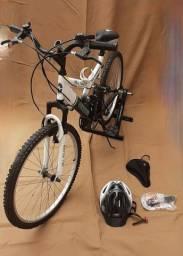 Bicicleta fisher +rolo de exercicios+acessórios