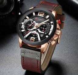Relógio De Luxo Curren 8329 Original À Prova D'água Lançamento 2020 Pulseira Em Couro