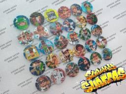 Coleção Completa Subway Surfers (30 Tazos) da Guatemala - Linda Coleção