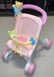Andador Carrinho de Bebê Fischer Price usado