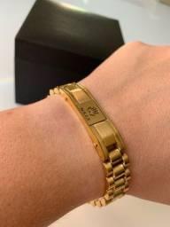 Braceletes Rolex Dourado (PROMOÇÃO)