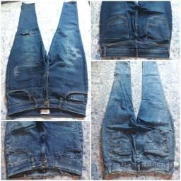 Lote com 06 Calças Jeans marisa e magazan