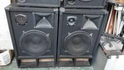 Par de caixas profissionais boa para funk