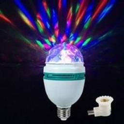 Lâmpada De Led Luz Colorida Giratória Rotativa Maluca