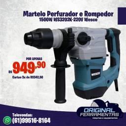 Martelo Perfurador e Rompedor 1500W WS3202K-220V Wesco