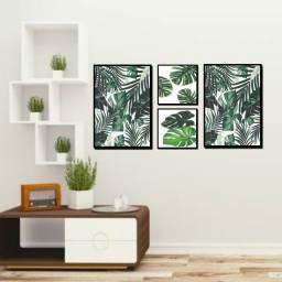 Quadros Decorativos Composição De Folhas Pra Decorar Sua Sala Quarto Ou Escritório