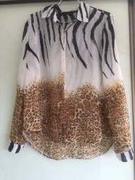 Camisa zebra onça M