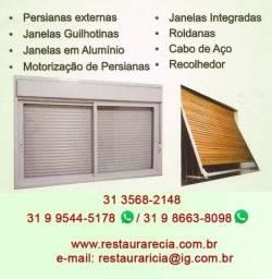 Título do anúncio: Conserto Manutenção e Reforma Esquadrias/ Janelas alumínio e Madeira/ *