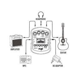 Processador de Efeito Nux, modelo PA-2, Especialmente para Violão.