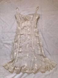 Vestido branco florido 20$