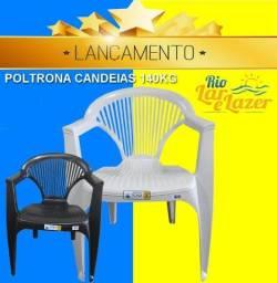 cadeira avulsa de plástico estilo poltrona