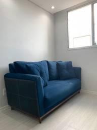 Sofá de Suede Azul