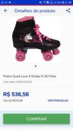 R$ 299 patins pontuação 35