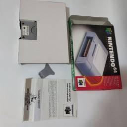memory card original Nintendo 64 na caixa
