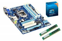 Kit Processador i5 3570 3.4ghz + placa mãe B75M-D3H + 8gb Memória DDR3 1333MHz