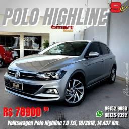 Smart Veículos - Volkswagen Polo Highline 1.0 Tsi, 18/2018, 14.437 Km. R$ 78.900,00