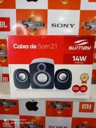 Caixa De Som Sumay Portatil 2.1