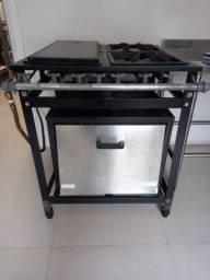Fogão industrial com forno