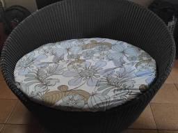 Chaise ofurô/sofá/poltrona redonda em fibra sintética