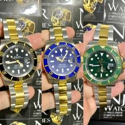 Relogio Rolex misto automatico varias cores