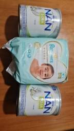 Frauda Pampers e duas latas leite NAN
