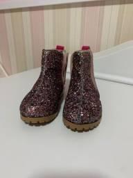 Bota infantil com glitter