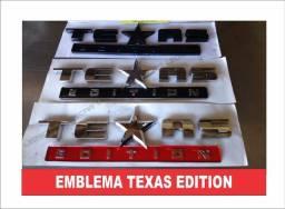 Emblema Texas Edition F100/F250/Hilux/Dodge/Silverado/S10