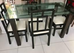 Conjunto Mesa 4 cadeiras.