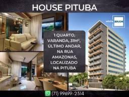 House Pituba, 1 quarto em 31m² com 1 vaga rotativa na Pituba