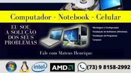 Serviço de manutenção de computador e notebook