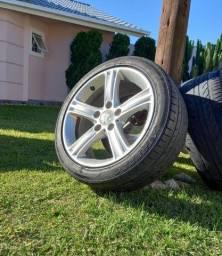 Título do anúncio: Jogo de rodas usados BMW aro 17; furacão 5x120; pneu tem que trocar logo.