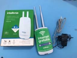 Roteador wireless intelbras com check-in no facebook hotspot 300